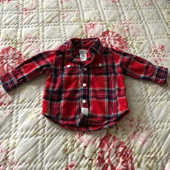 586d9e8df CARTER'S BABY BOY INFANT FLANNEL BUTTON-DOWN SHIRT.  M_5cad0c5c6a7fba856a620330